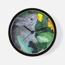 baby bunny horizontal design Wall Clock
