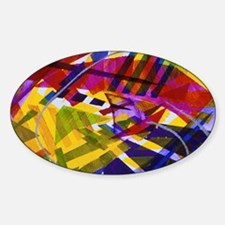 Inner Space - Abstract Rainbow of L Sticker (Oval)