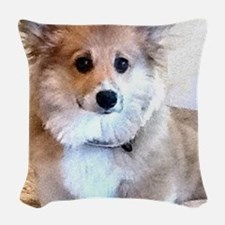 Too Cute Corgi Puppy Woven Throw Pillow