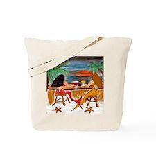 Mermaid Tiki Wine Bar Tote Bag