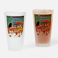 Mermaid Tiki Wine Bar Drinking Glass