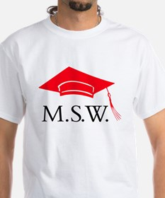 Red MSW Grad Cap Shirt