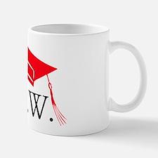 Red MSW Grad Cap Mug