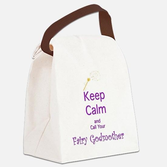 Keep Calm and Call your Fairy God Canvas Lunch Bag