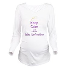 Keep Calm and Call y Long Sleeve Maternity T-Shirt