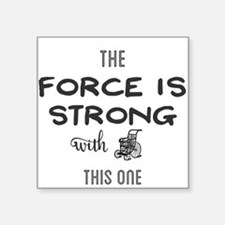 the force is strong with this one Sticker