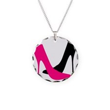 Heels Necklace Circle Charm