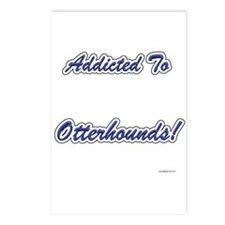 Otterhound Addicted Postcards (Package of 8)