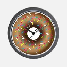Donut with Sprinkles Wall Clock