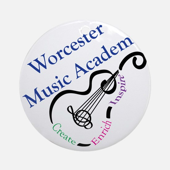 Worcester Music Academy Round Ornament
