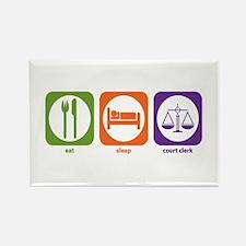 Eat Sleep Court Clerk Rectangle Magnet