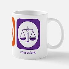 Eat Sleep Court Clerk Mug