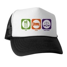 Eat Sleep Court Clerk Trucker Hat