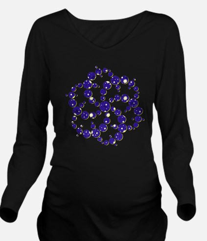 Space Spiral Long Sleeve Maternity T-Shirt