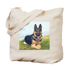 GSD with slogan Tote Bag