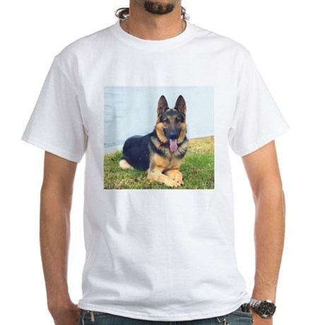 GSD with slogan White T-Shirt
