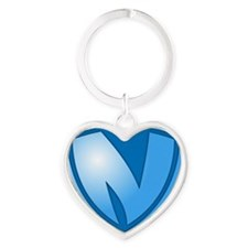 Super N Super Hero Design Heart Keychain