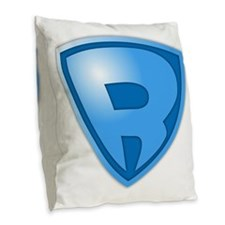Super R Super Hero Design Burlap Throw Pillow