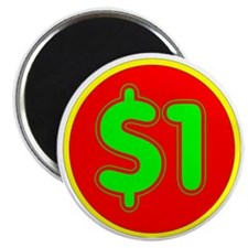 PRICE TAG LABEL - $1 - ONE DOLLAR Magnet