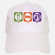 Eat Sleep Mine Baseball Baseball Cap