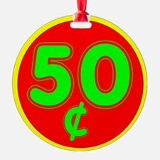 PRICE TAG LABEL - 50c - FIFTY CENTS Ornament