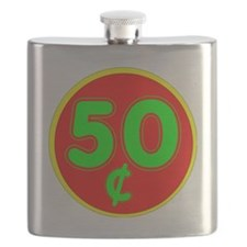 PRICE TAG LABEL - 50c - FIFTY CENTS Flask
