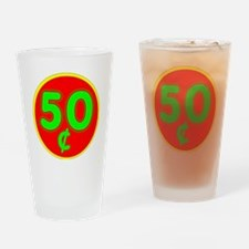 PRICE TAG LABEL - 50c - FIFTY CENTS Drinking Glass