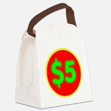 PRICE TAG LABEL - $5 - FIVE DOLLA Canvas Lunch Bag