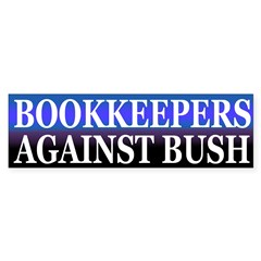 Bookkeepers Against Bush (sticker)