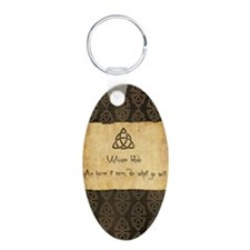 Wiccan Rede Triquetra Keychains