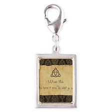 Wiccan Rede Triquetra Silver Portrait Charm
