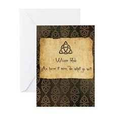 Wiccan Rede Triquetra Greeting Card