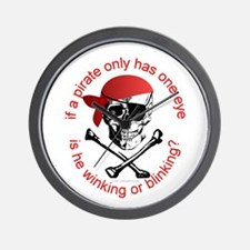 Pirate Humor Wall Clock