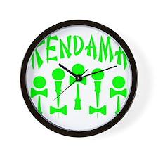 green Kendama x5 b Wall Clock