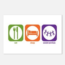 Eat Sleep Social Services Postcards (Package of 8)