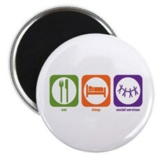 "Eat Sleep Social Services 2.25"" Magnet (10 pa"