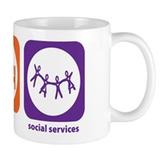 Eat Sleep Social Services Mug