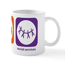 Eat Sleep Social Services Mug