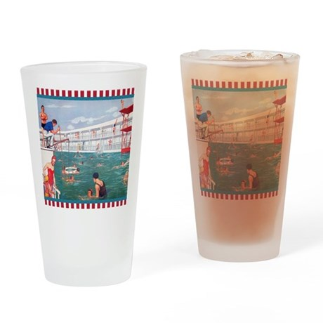 retro swimming pool drinking glass by admin cp520804