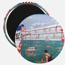 Retro Swimming Pool Magnet