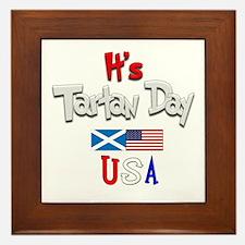 It's Tartan Day.(1):-) Framed Tile