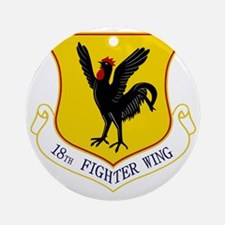 18th Fighter Wing Round Ornament