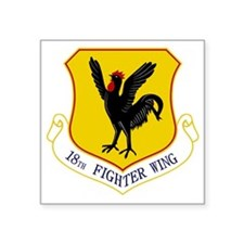 "18th Fighter Wing Square Sticker 3"" x 3"""