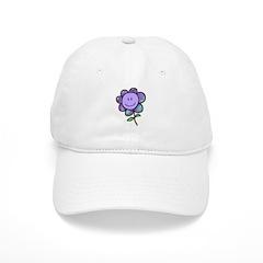 Happy Baby Flower (purple) Baseball Cap