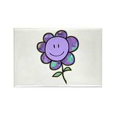 Happy Baby Flower (purple) Rectangle Magnet