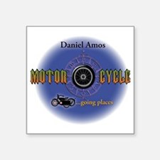 "Daniel Amos - Motorcycle Square Sticker 3"" x 3"""