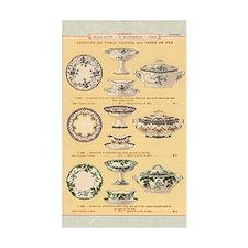 Vintage French Porcelain Decal