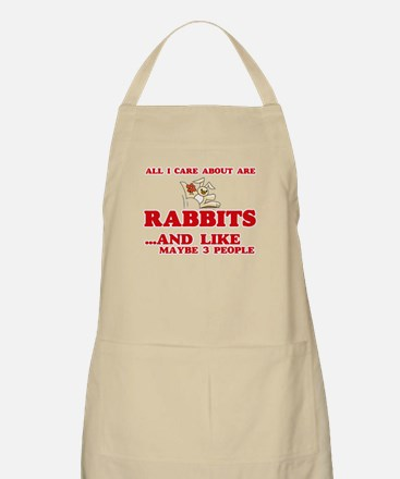 All I care about are Rabbits Light Apron