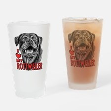 Rottweiler Sketch Drinking Glass
