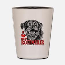 Rottweiler Sketch Shot Glass